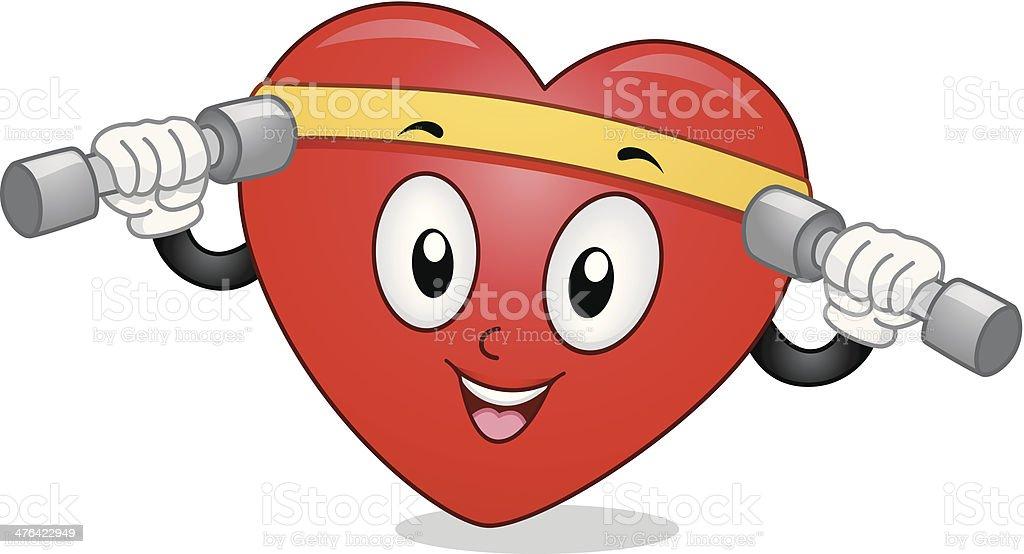 Heart Exercising royalty-free stock vector art