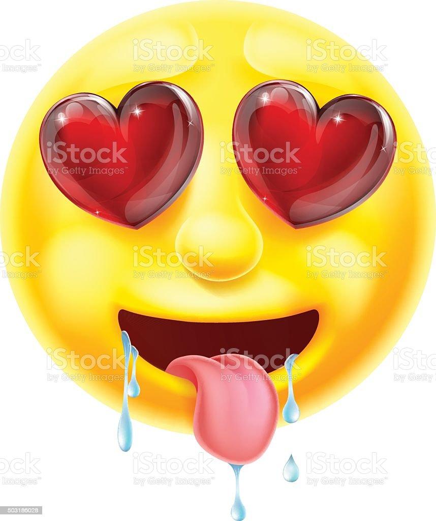 Herz Augen Emoticon Mit Emoji Stock Vektor Art und mehr Bilder von ...