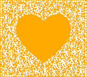 Heart Fitness Sports and Exercise pattern vector background