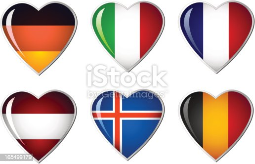istock Heart Flag collection 165499179