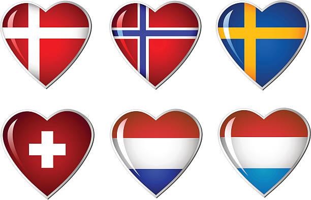 旗コレクションの中心 - スウェーデンの国旗点のイラスト素材/クリップアート素材/マンガ素材/アイコン素材
