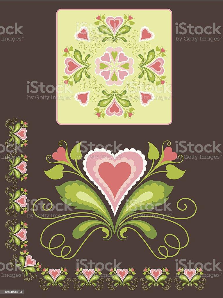 Heart Flower royalty-free heart flower stock vector art & more images of brown
