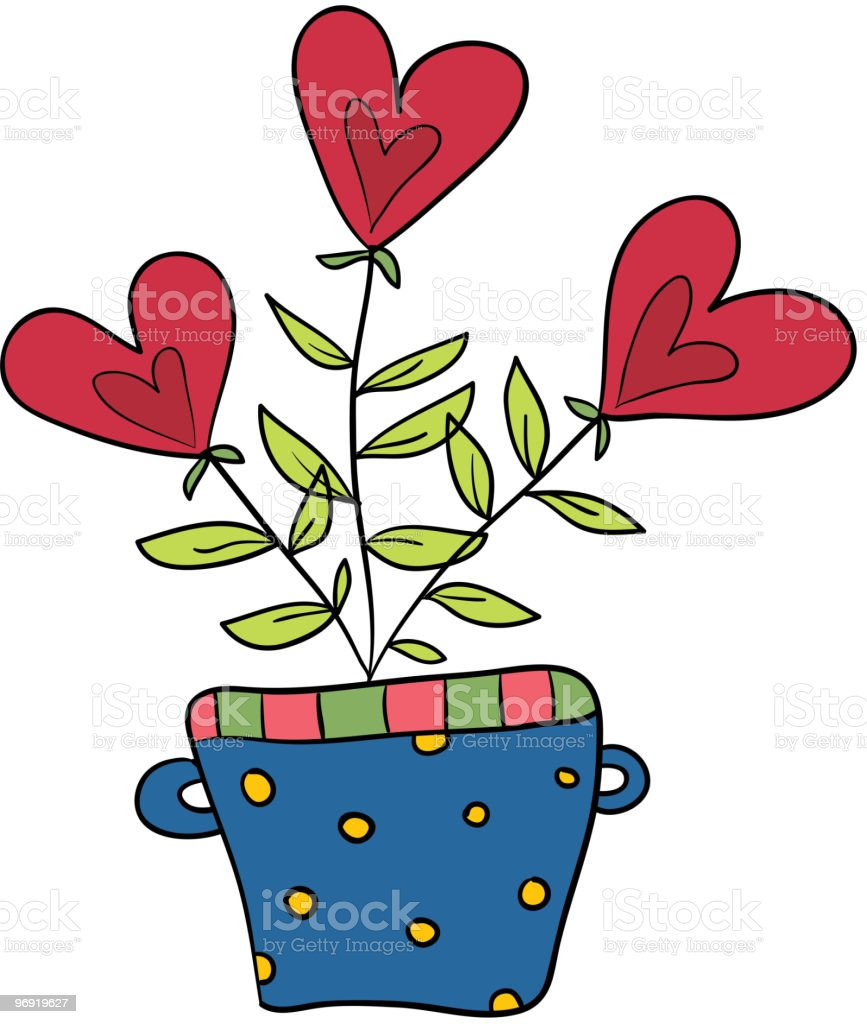 Heart flowers royalty-free heart flowers stock vector art & more images of cartoon