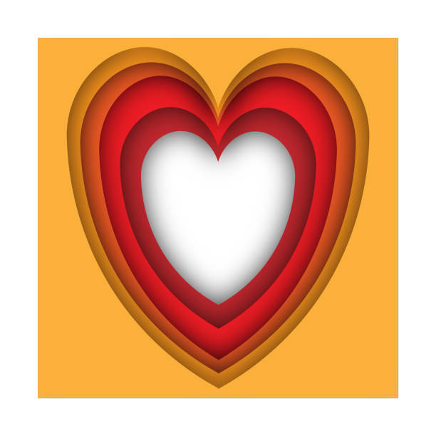Herz für Papierkunst der Valentinstag Hintergrund – Vektorgrafik