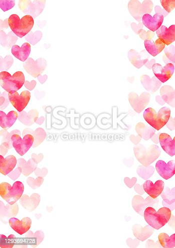 istock Heart frame watercolor 1293694728