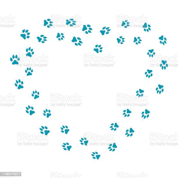 Heart frame with dog tracks isolated on white background vector vector id1160270271?b=1&k=6&m=1160270271&s=612x612&h=q6t6ervc7obvf20pdwr3xdnnn8xppsi5nx9gkidwdjq=