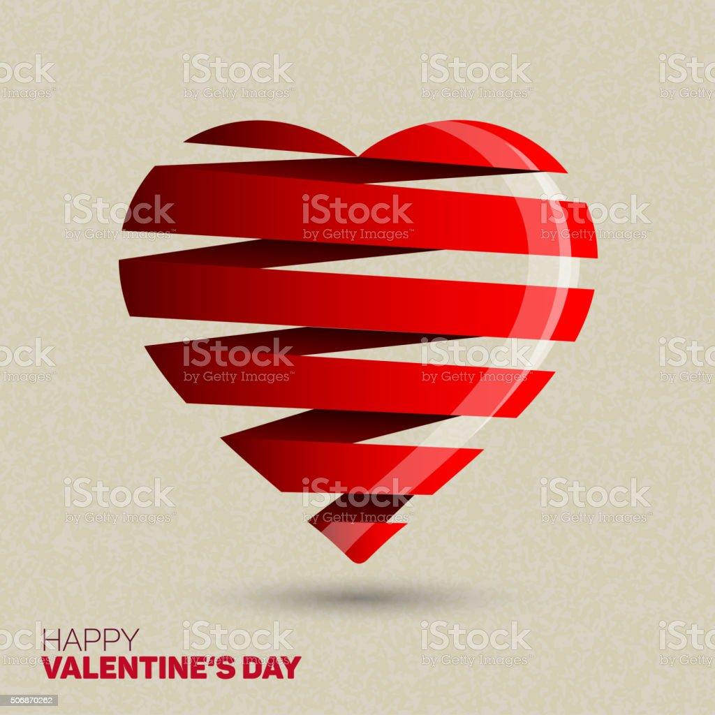 Herz Aus Papier Streifen Stock Vektor Art Und Mehr Bilder Von