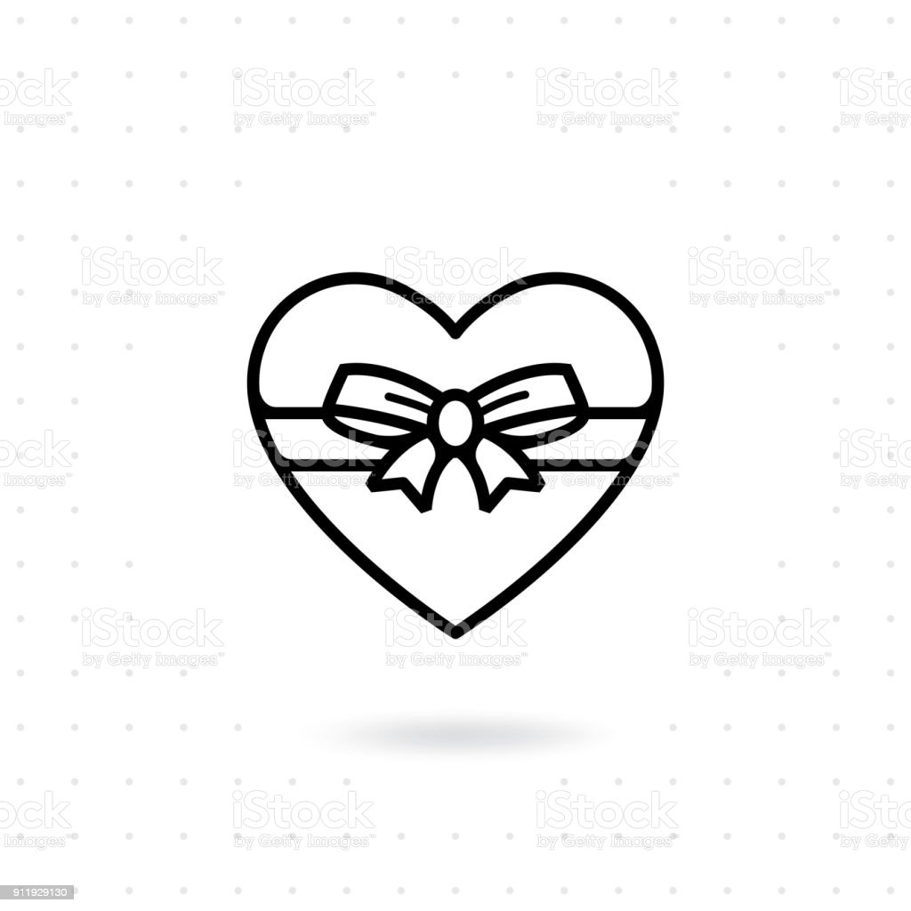 Heart Gift Box Icon Stock Illustration Download Image Now Istock