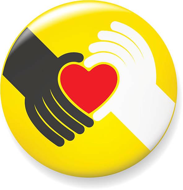 Heart Gift Pin vector art illustration