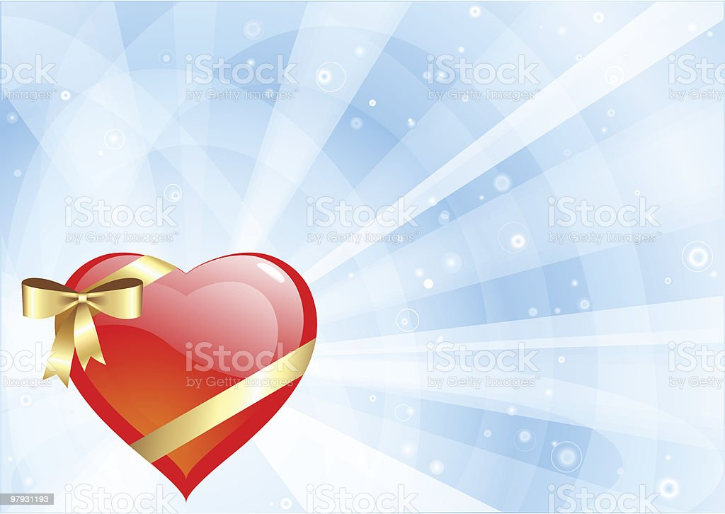 Heart gift. royalty-free heart gift stock vector art & more images of abstract