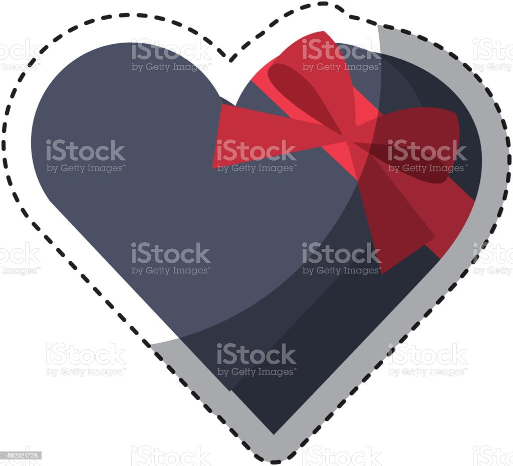 heart giftbox present isolated icon royalty-free heart giftbox present isolated icon stock vector art & more images of anniversary