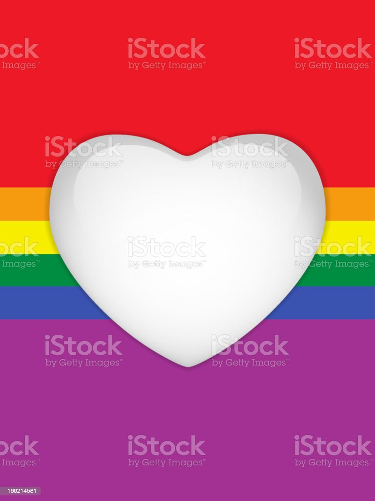 Heart Glass Buttons Gay Flag royalty-free stock vector art