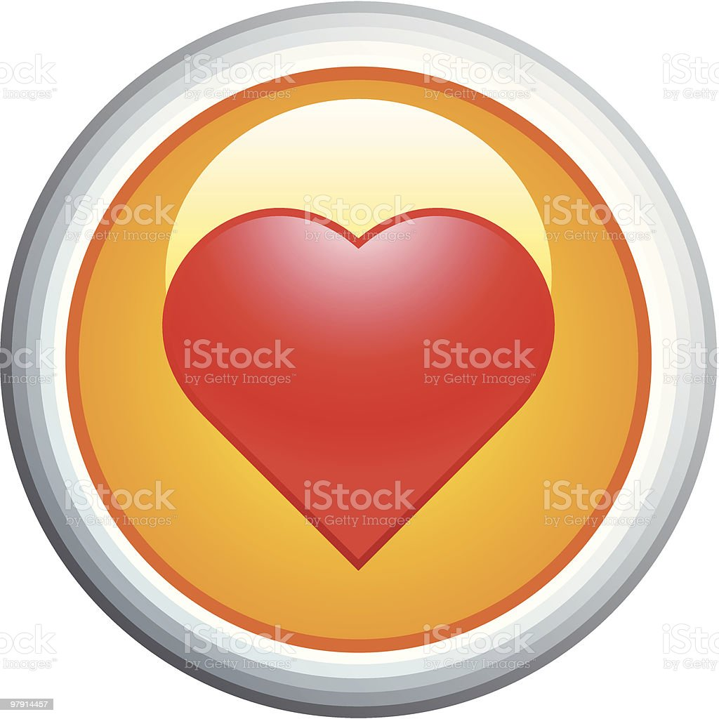 Heart Glossy Vector Icon royalty-free heart glossy vector icon stock vector art & more images of clip art