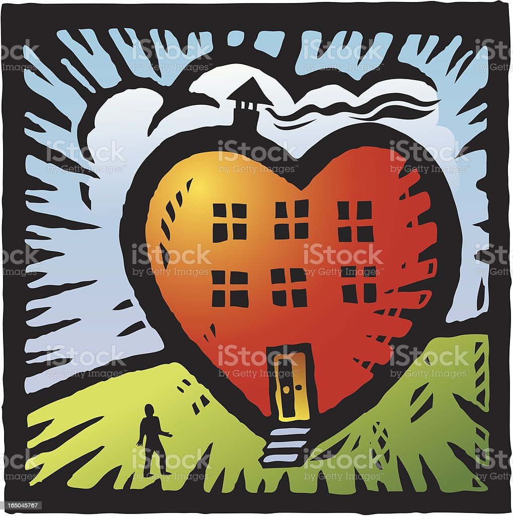 Heart Home royalty-free stock vector art