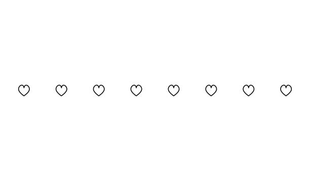 Heart Horizontal Line Simple Shape Vector Symbol Icon Design ...