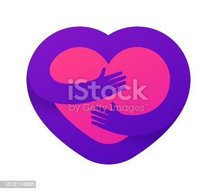 istock Heart Hug Symbol 1310114805