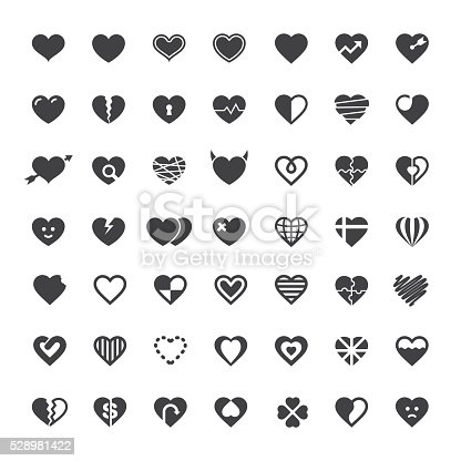 Heart Icon 49 Icons Vector EPS File.