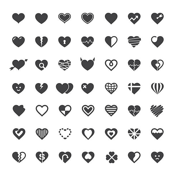 Heart Icon 49 Icons vector art illustration