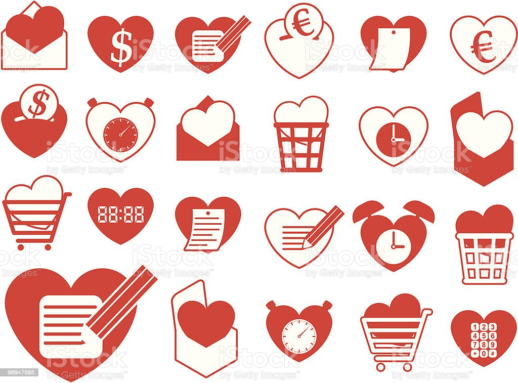 Heart icon collection - business and office vector royalty-free heart icon collection business and office vector stock vector art & more images of abstract