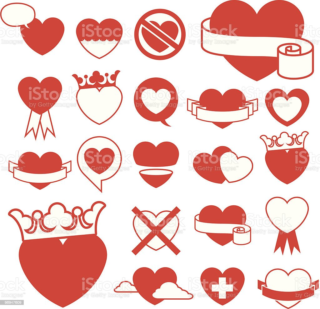 Heart icon collection - design elements vector royalty-free heart icon collection design elements vector stock vector art & more images of abstract