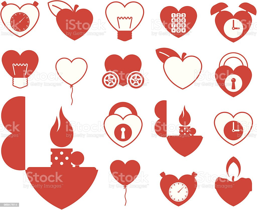 Heart icon collection - objects vector royalty-free heart icon collection objects vector stock vector art & more images of abstract