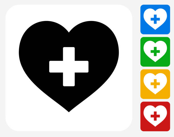 heart icon flat graphic design - crossing stock illustrations, clip art, cartoons, & icons