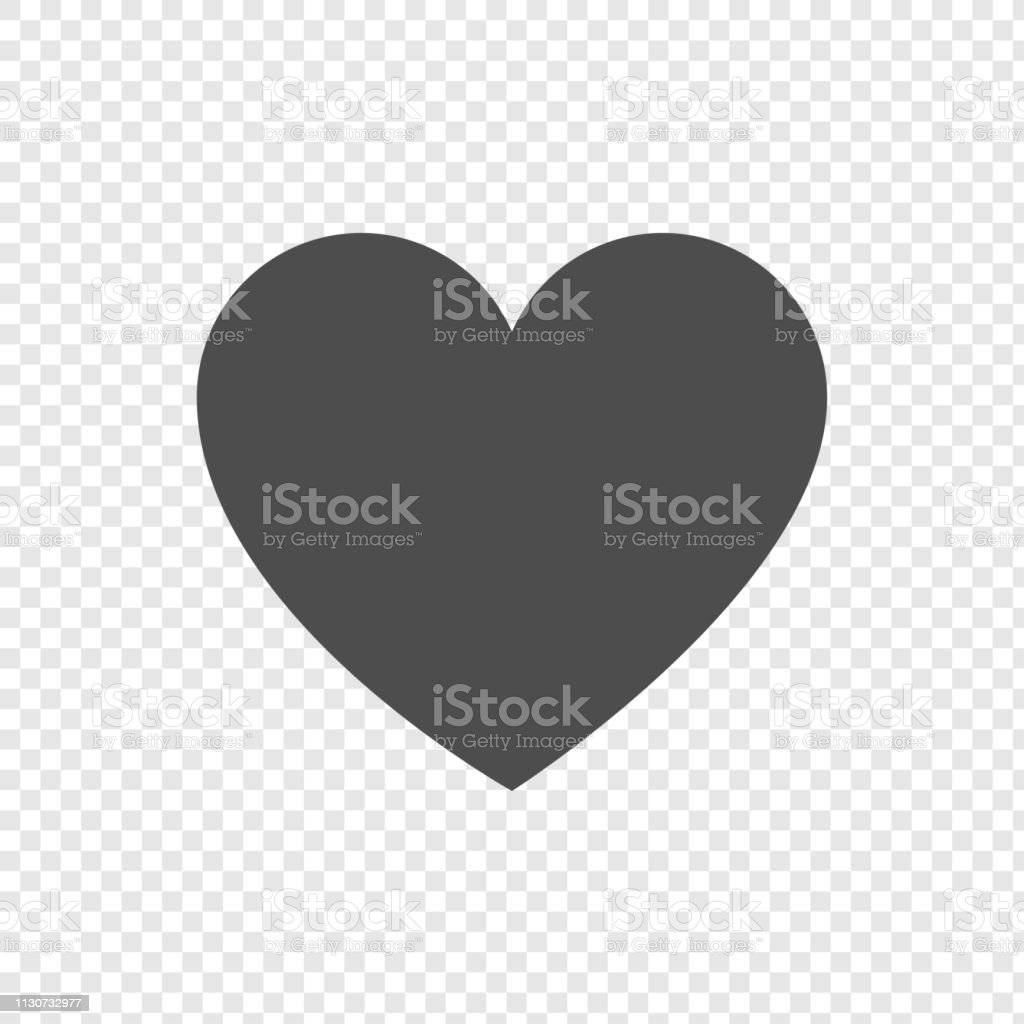 Heart Icon In Flat Design On Transparent Background Heart