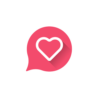 Heart icon logo. Heart icon sign. Heart icon flat design. Heart icon design.
