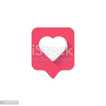 istock Heart icon logo. Heart icon sign. Heart icon flat. Heart icon design. 1200362333