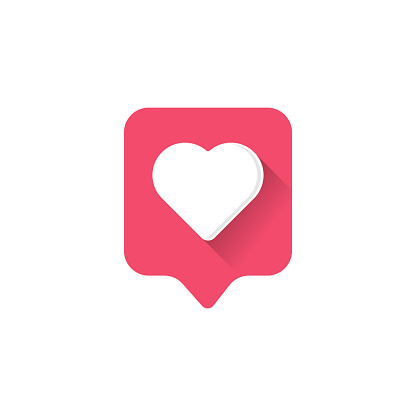 Heart icon logo. Heart icon sign. Heart icon flat. Heart icon design.