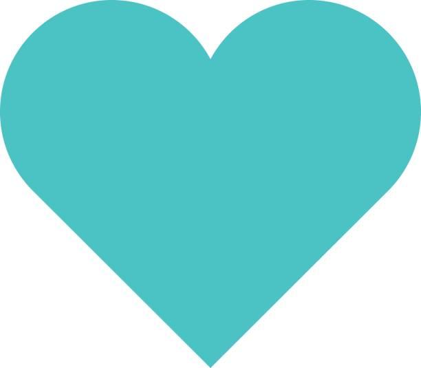 Herz-Symbol Liebe Schild Lieblings flache Schaltflächenstil – Vektorgrafik