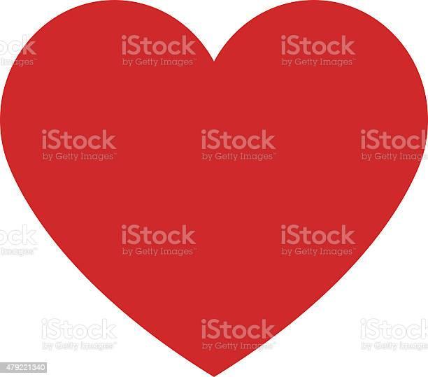 Coração Ícone Plano De Design Moderno Estilo Minimalista Símbolo De Amor - Arte vetorial de stock e mais imagens de 2015