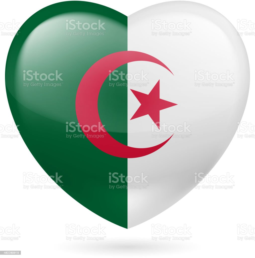 Heart icon of Algeria royalty-free heart icon of algeria stock vector art & more images of adulation