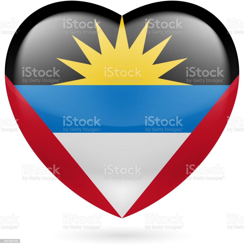 Heart icon of Arab League royalty-free stock vector art