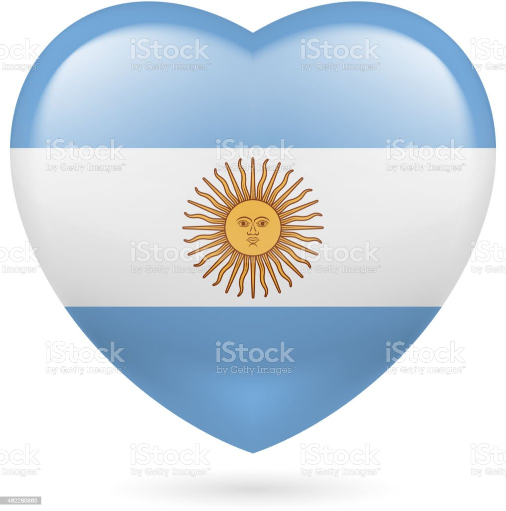 Heart icon of Argentina royalty-free stock vector art