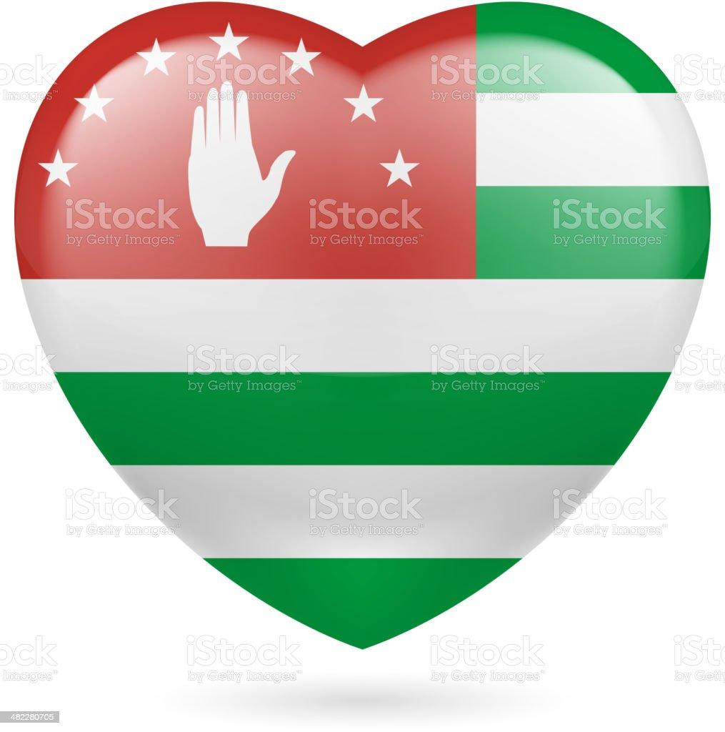 Heart icon of Azores royalty-free stock vector art
