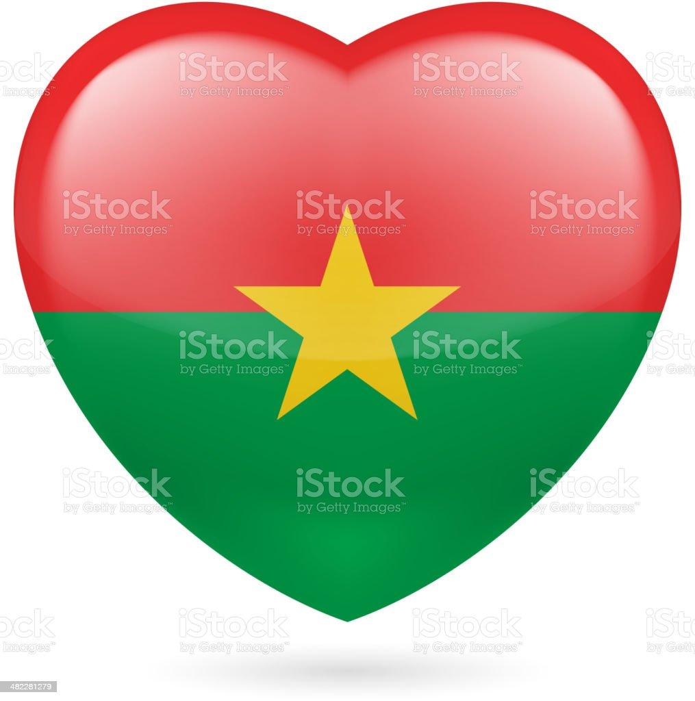 Heart icon of Burkina Faso royalty-free stock vector art