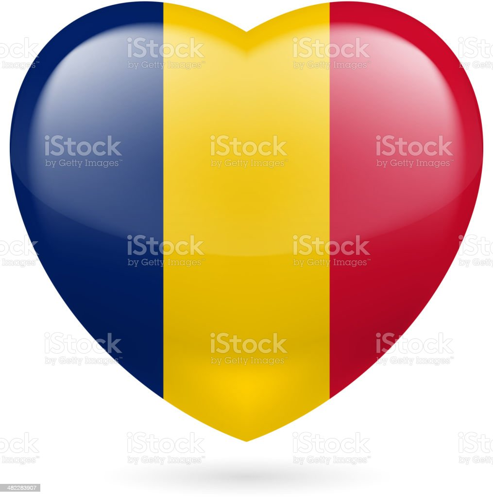 Heart icon of Chad royalty-free stock vector art