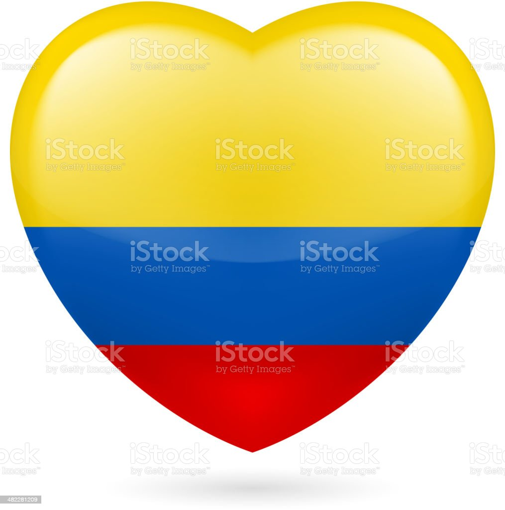 Heart icon of Colombia royalty-free stock vector art