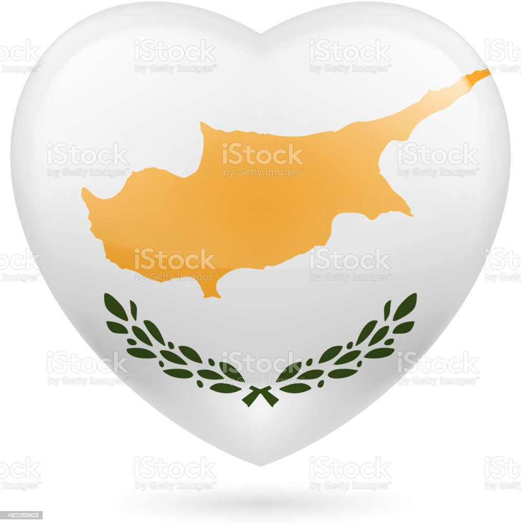 Heart icon of Cyprus royalty-free heart icon of cyprus stock vector art & more images of adulation