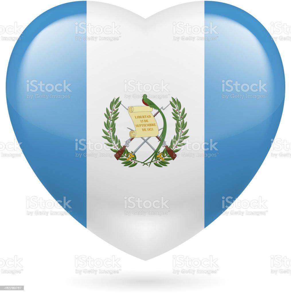 Heart icon of Guatemala royalty-free stock vector art
