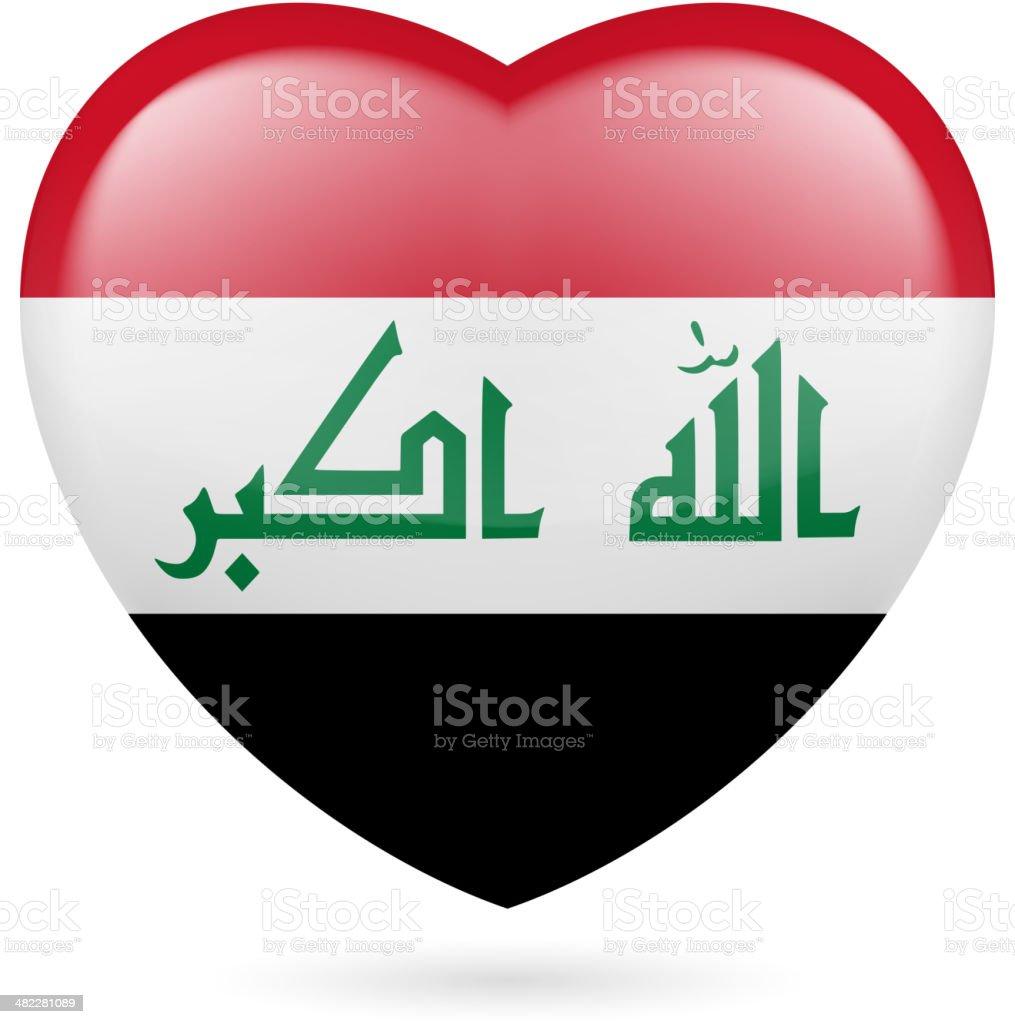 Heart icon of Iraq royalty-free stock vector art
