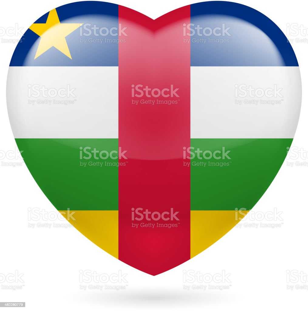 Heart icon of NATO royalty-free stock vector art