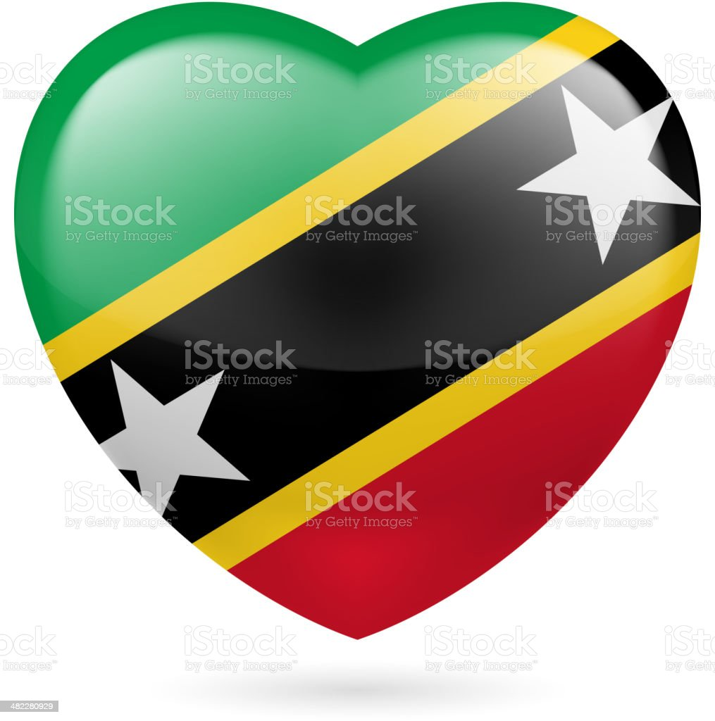 Heart icon of Saint Kitts and Nevis royalty-free heart icon of saint kitts and nevis stock vector art & more images of adulation