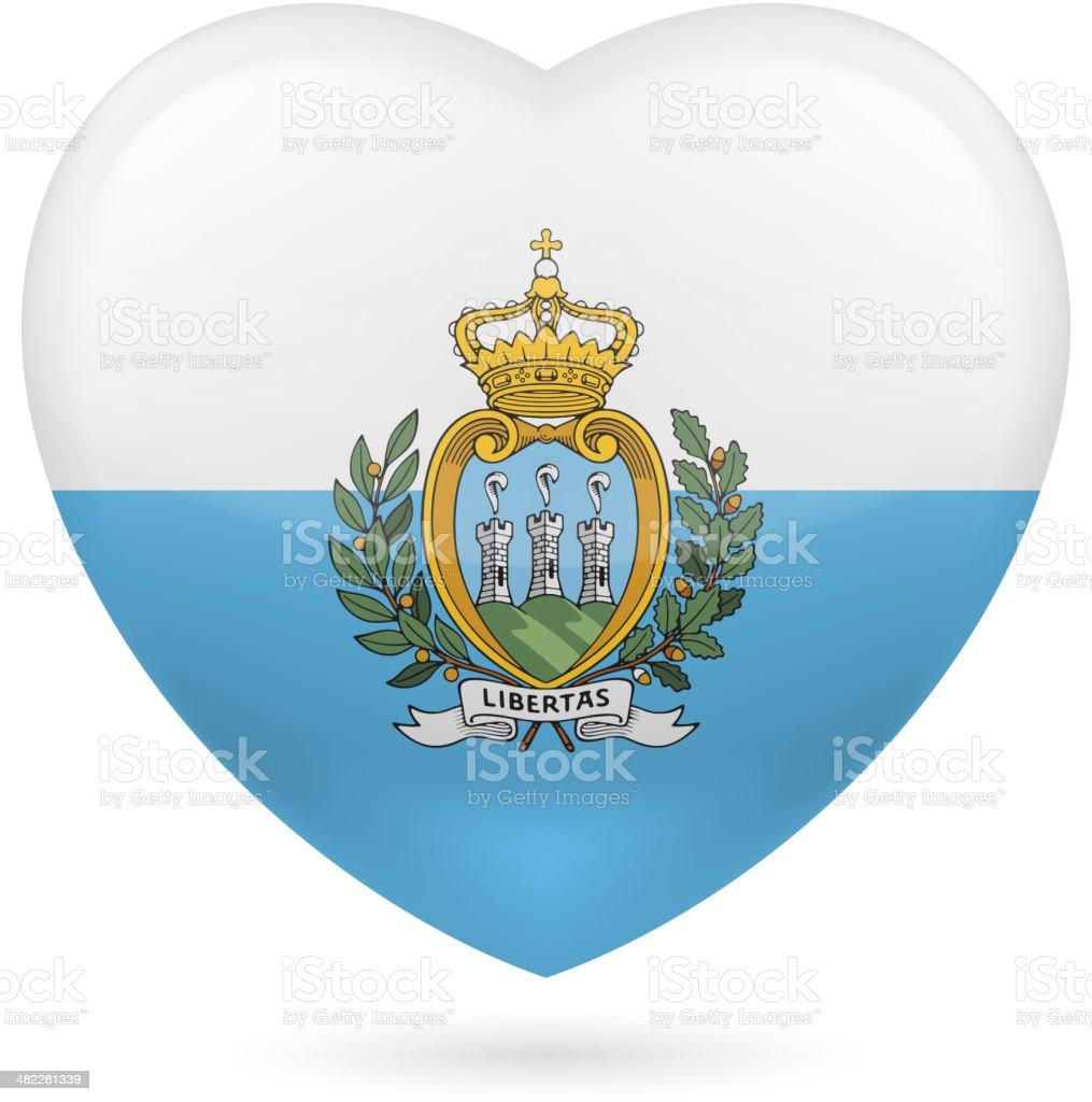 Heart icon of San Marino royalty-free stock vector art