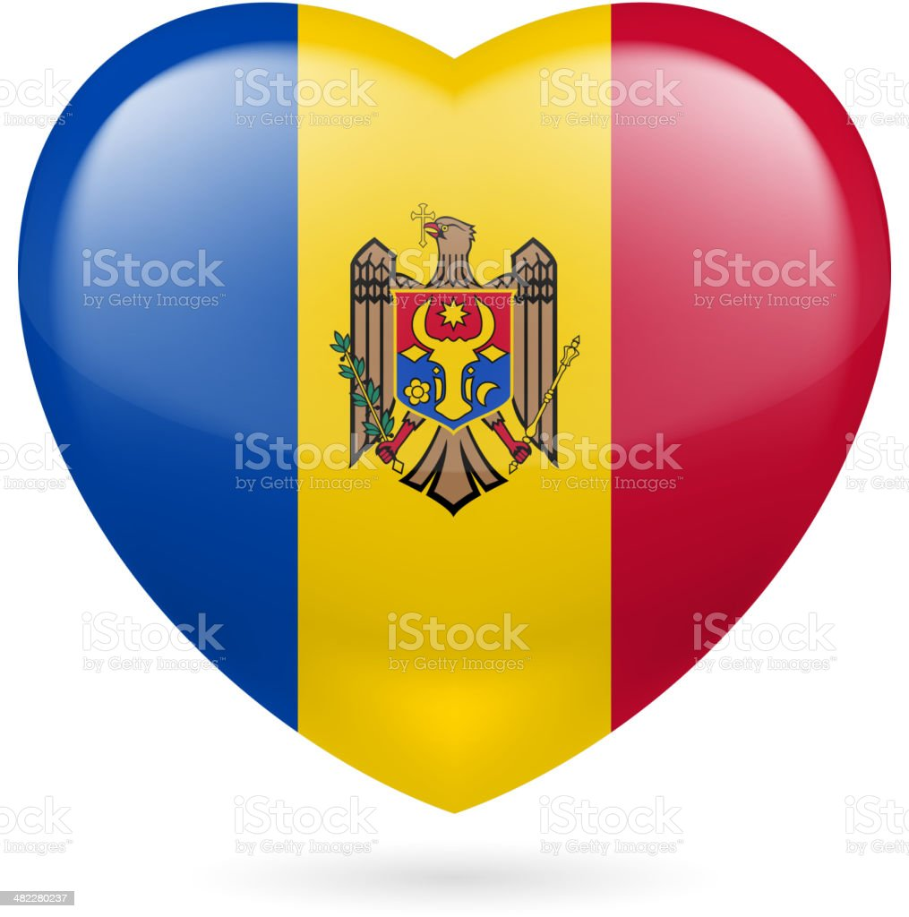 Heart icon of Togo royalty-free stock vector art