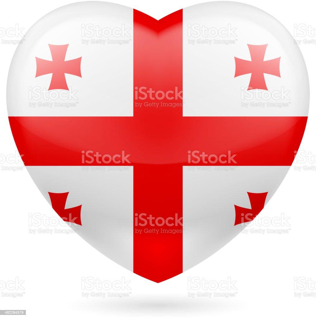 Heart icon of Vanuatu royalty-free stock vector art
