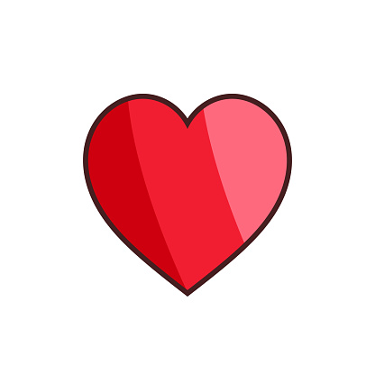 Heart icon on white background. Vector