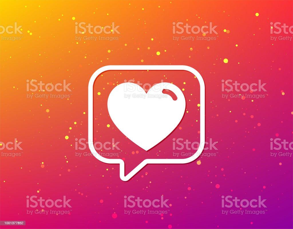 Heart icon. Romantic love sign. vector art illustration