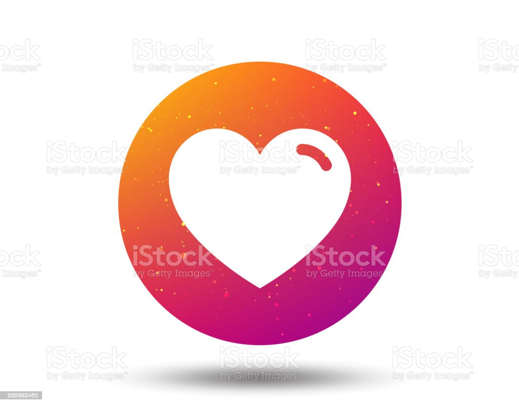 Heart icon. Romantic love sign. vector art illustration